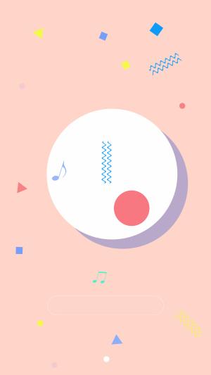 音乐手机UI设计背景素材图