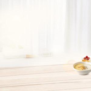 家居木桌餐具摆件PSD分层主图背景素材