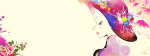 38女神节海报背景图