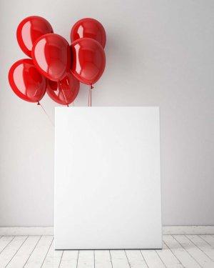 红色   气球   海报  背景板