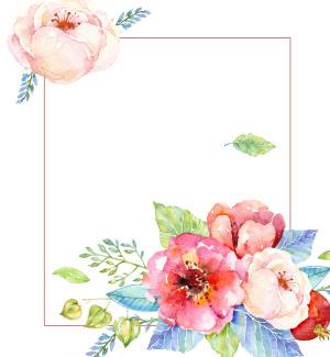 水彩小清新婚礼海报背景素材