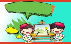 幼儿园春季绘画板招生简章板报背景图