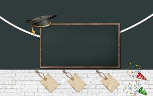 春季开班新生入学招生黑板校园氛围背景图