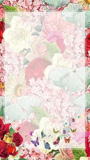 花卉女人节促销H5背景素材