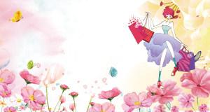 粉色浪漫38妇女节促销海报背景素材