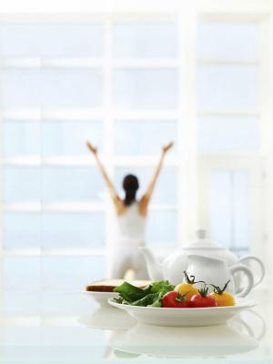 健康生活与早餐背景素材