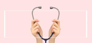 512护士节听诊器粉色banner