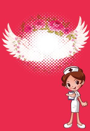 卡通护士节海报背景