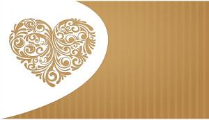 巧克力色爱心邀请函