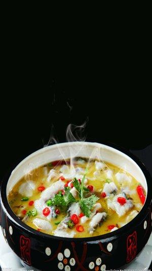 黑色美食汤锅PS源文件H5背景素材