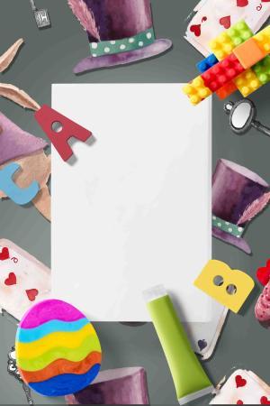 六一儿童节甜品广告背景