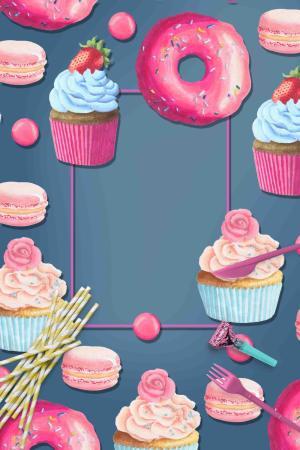 粉色少女儿童节烂漫广告背景