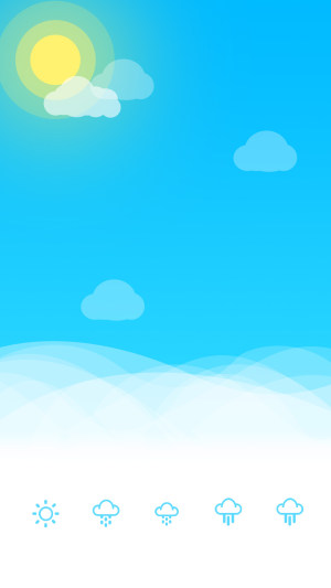 蓝色天气UI设计PS源文件H5背景素材