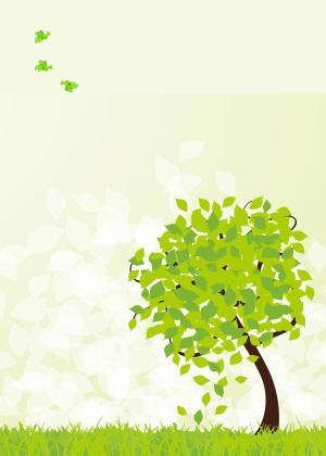 绿色家园爱护大树宣传海报背景