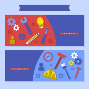 工作劳动工具卡通背景