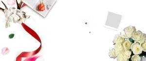 白色情人节简约海报背景