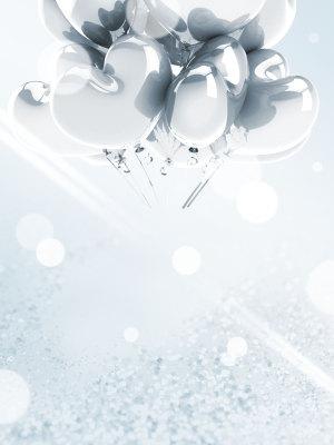 白色情人节海报PSD背景图