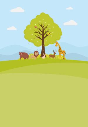保护动物世界地球日主题海报背景