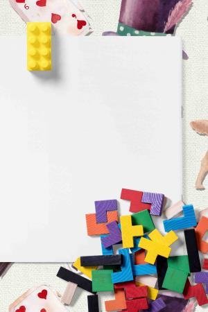 白纸六一儿童节教育玩具背景