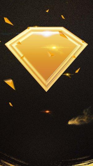 黑色钻石背景PS源文件H5背景素材