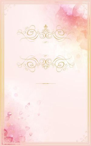 婚礼展板背景素材