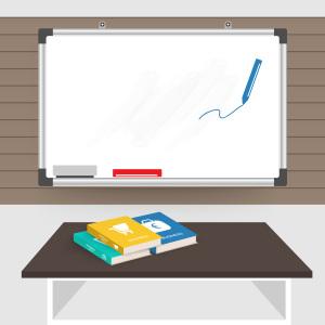 课堂商务白板卡通背景素材