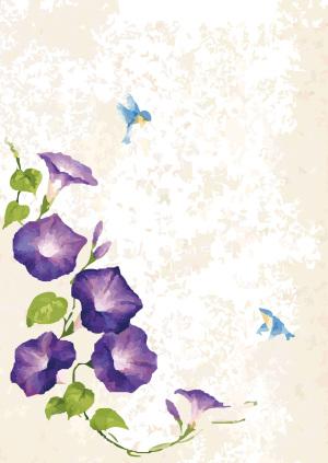 浪漫紫色花朵斑驳海报背景