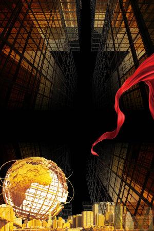 红色金融背景素材