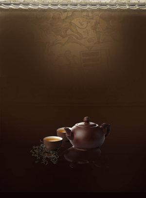 茶具茶道背景素材