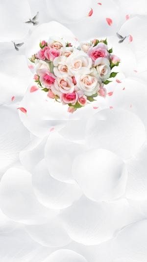 小清新婚礼爱情捧花H5背景