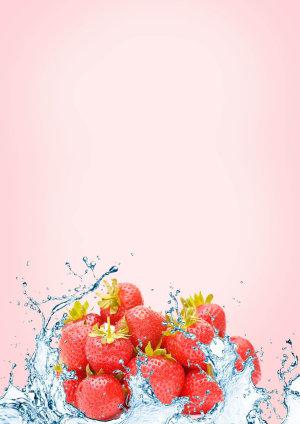 粉红草莓背景素材
