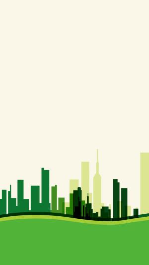 绿色城市公益广告PS源文件H5背景素材