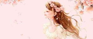520告白日花瓣梦幻浪漫粉色背景