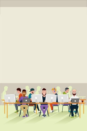科技商务办公职场海报背景素材