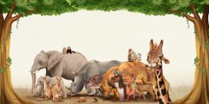 动物园保护动物宣传海报背景素材
