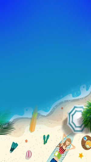 蓝色冰凉一夏游泳PS源文件H5背景素材