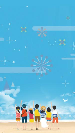 蓝色54青年节PS源文件H5背景素材