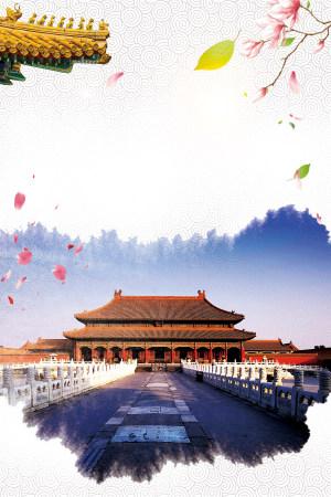 北京创意古建筑中国风背景