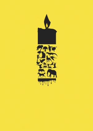保护动物公益海报背景