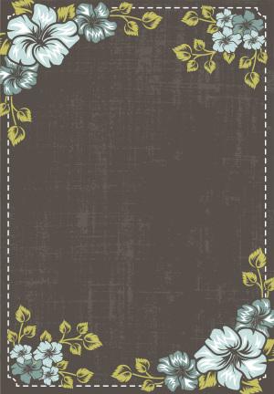 520情人节复古鲜花背景素材