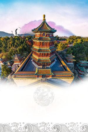 北京特色海报背景素材