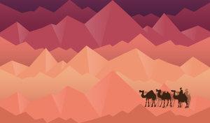 红色丝绸之路海报展板背景