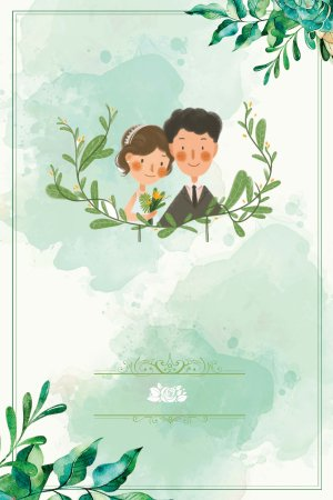 我们结婚吧婚庆浪漫欧式海报背景