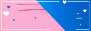 拼接粉蓝banner设计