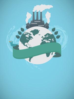 节能减排世界环境日海报背景