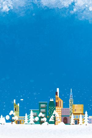 冬季白雪海报背景