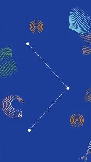 设计展艺术字版式蓝色曲线H5背景
