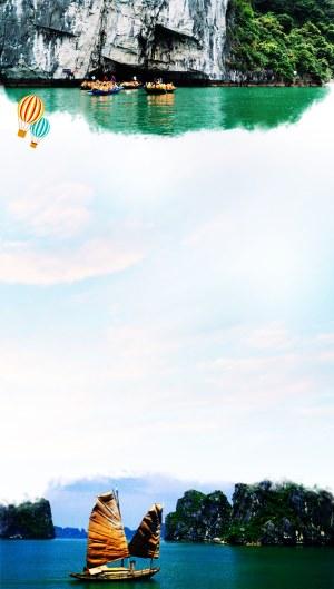 越南双飞六日游背景图片