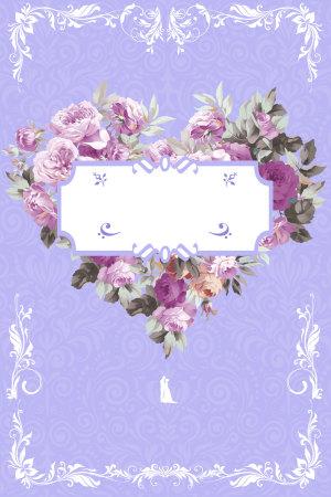 婚礼婚庆我们结婚吧海报背景素材