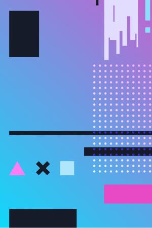 UI素材点线蓝紫渐变矢量背景